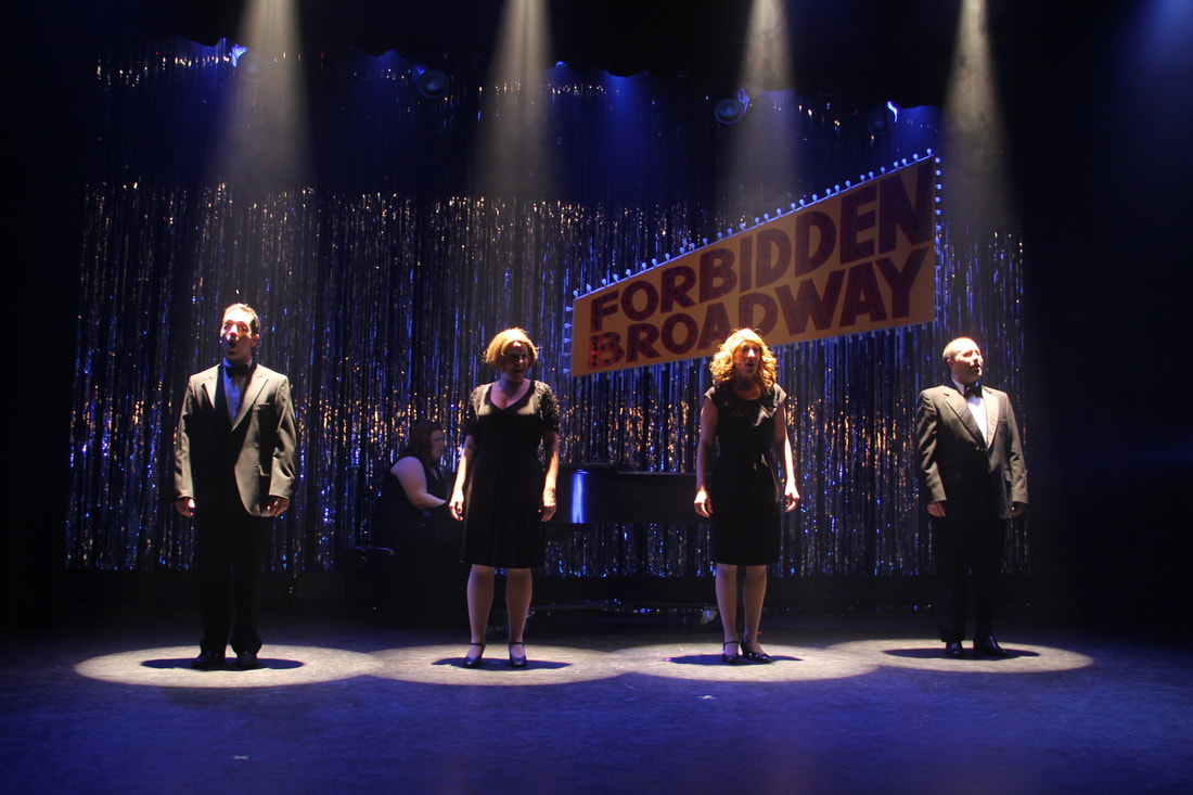 forbidden broadway dalton hamilton lighting design